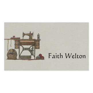 Treadle Sewing Machine & Kittens Pack Of Standard Business Cards