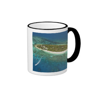 Treasure Island Resort and boat, Fiji Ringer Mug