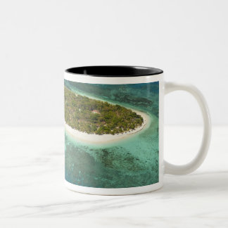 Treasure Island Resort and boat, Fiji Two-Tone Mug