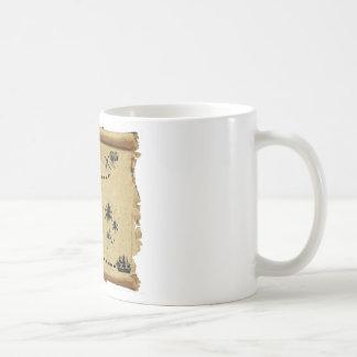 treasure map basic white mug