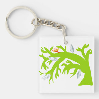 Tree Bends, Does Not Break Single-Sided Square Acrylic Key Ring