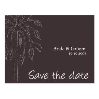 Tree design Color-Ebony, Save the date Postcard