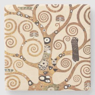 Tree of Life by Gustav Klimt Stone Coaster