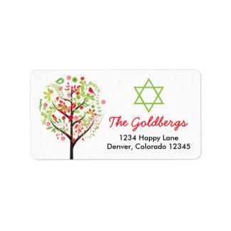 Tree of Life Star of David Return Address Address Label