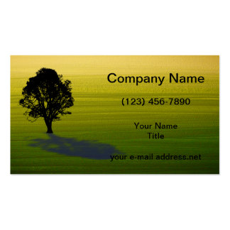 Tree silhouette pack of standard business cards
