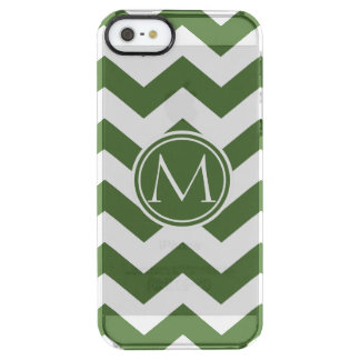 Tree Top Chevron Monogrammed Clear iPhone SE/5/5s Case