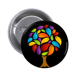 Tree with colorful leaves 6 cm round badge