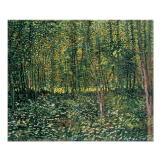 Trees and Undergrowth, 1887 Poster
