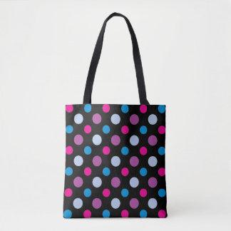 Trendy Modern Polka Dots Pattern Tote Bag