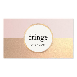 Trendy Stylish Pink FAUX Gold Foil Beauty Salon Pack Of Standard Business Cards