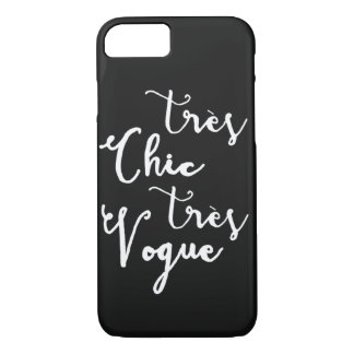 Tres Chic Tres Vogue | Modern Calligraphy Design iPhone 7 Case