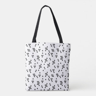 Triangle Black White Minimal Scandi /Andrea Lauren Tote Bag