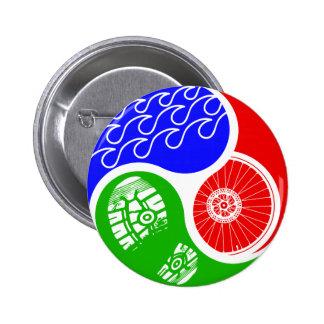 Triathlon TRI Yin Yang 6 Cm Round Badge
