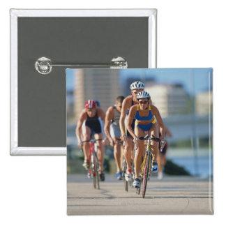 Triathloners Cycling 2 15 Cm Square Badge