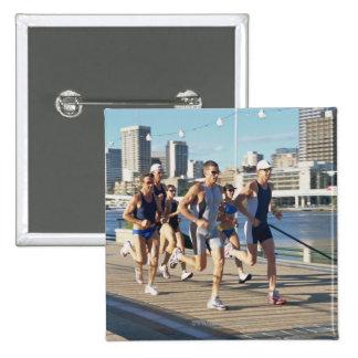 Triathloners Running 3 15 Cm Square Badge