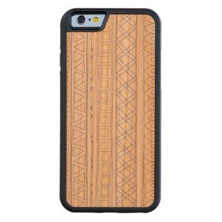 Tribal blue Ethnic pattern samsung S5 wood case