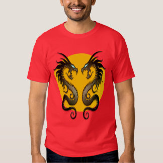 Tribal Dragons (yellow) Tee Shirt