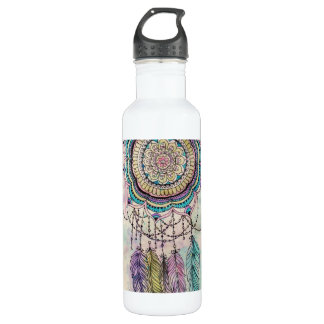 tribal hand paint dreamcatcher mandala design 710 ml water bottle