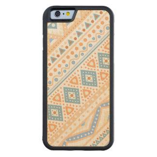 Tribal orange Ethnic pattern samsung S5 wood case