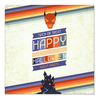 Trick or Treat Halloween Party 13 Cm X 13 Cm Square Invitation Card