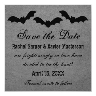 Trio of Bats Halloween Save the Date Invite