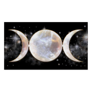 Triple Moon Moonstone Pack Of Standard Business Cards