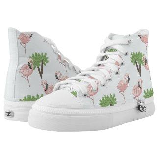Tropical Flamingo Printed Shoes