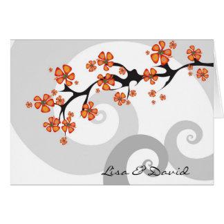 Tropical Flower Fusion Swirl Wedding Invitation Greeting Card