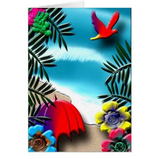 Tropical Greeting Card