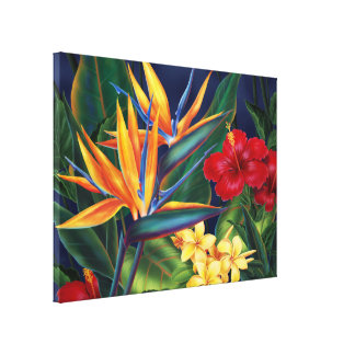 Tropical Paradise Hawaiian Large Wrapped Canvas Gallery Wrap Canvas