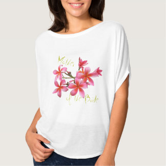 Tropical Pink Floral Mother of the Bride Tshirt