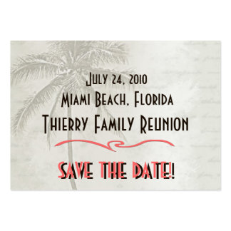 Tropical Save the Date Family Reunion Pack Of Chubby Business Cards