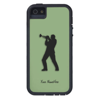Trumpet Player on Green iPhone 5 Case