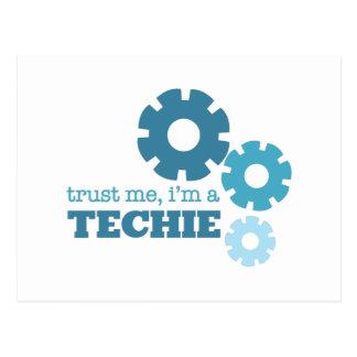 Trust A Techie Postcard