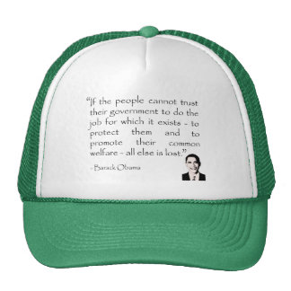 Trust in the government, Barack Obama Cap