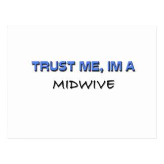 Trust Me I'm a Midwive Postcard