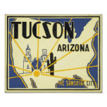 Tucson, Arizona The Sunshine City Poster