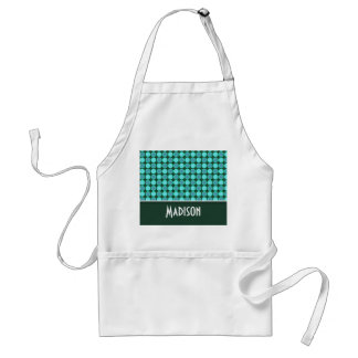 Turquoise and Green Polka Dots Standard Apron