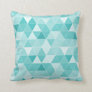 Turquoise geometric triangle pattern throw pillow throw cushions