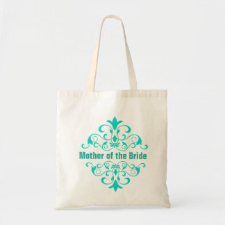 Turquoise Mother of the Bride Wedding Tote Bag