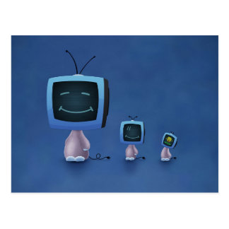 TV Heads (Color 2) Postcard