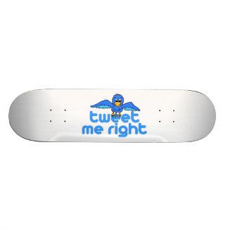 Tweet Me Right 19.7 Cm Skateboard Deck