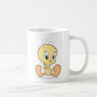 Tweety In The Clouds Pose 7 Basic White Mug