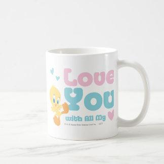 "Tweety ""Love You With All My Heart"" Basic White Mug"