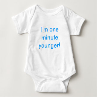 Twin boy I'm one minute younger! Tshirts