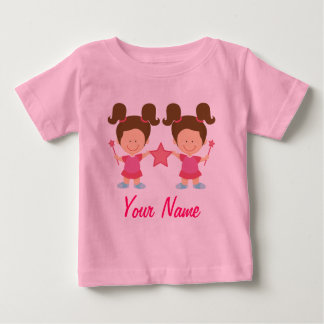 Twin Girl Personalized Gift Infant T-Shirt