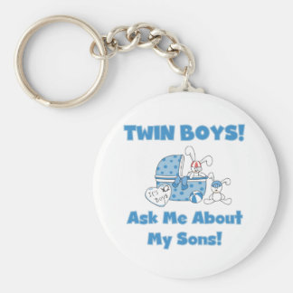 Twin Sons Basic Round Button Key Ring