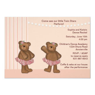 Twin Stars Dance Recital Invitation