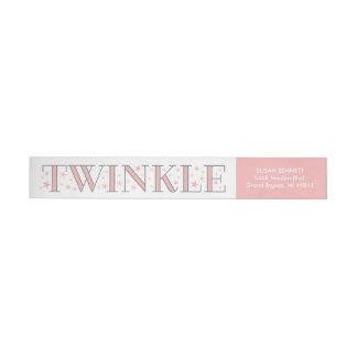 Twinkle Star Baby Shower Return Address Label Wraparound Return Address Label