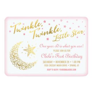 Twinkle, Twinkle, Little Star Birthday Invitation